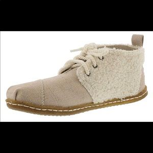 Toms Bota shoes natural canvas/faux shearling - 7